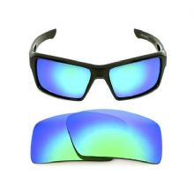 NEW POLARIZED CUSTOM GREEN LENS FOR OAKLEY EYE PATCH 2 SUNGLASSES